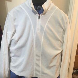 Columbia Women's White Fleece Pullover 1/4 Zip
